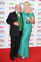 Brendan and Jennifer O'Carroll<br /> in the winners room at the National TV Awards 2017 held at the O2 Arena, Greenwich, London.<br /> <br /> <br /> ©Ash Knotek  D3221  25/01/2017