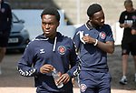 St Johnstone v Fleetwood Town…24.07.21  McDiarmid Park<br />The Fleetwood Twon players arrive, pictured Jay Matete<br />Picture by Graeme Hart.<br />Copyright Perthshire Picture Agency<br />Tel: 01738 623350  Mobile: 07990 594431