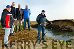 L-R George O'Flaherty, Paudie Stack, Donal Dowling, William Murphy, Banna Beach Hotel&Leasure centre and Pat Lawlor, Chairperson of Banna&Carrahane residents pictured on Wednesday morning, Feb 12 at the old embankment at Currahane, Banna which collapsed during Storm Ciara.