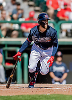 25 February 2019: Atlanta Braves outfielder Ender Inciarte in action during a pre-season Spring Training game against the Washington Nationals at Champion Stadium in the ESPN Wide World of Sports Complex in Kissimmee, Florida. The Braves defeated the Nationals 9-4 in Grapefruit League play in what will be their last season at the Disney / ESPN Wide World of Sports complex. Mandatory Credit: Ed Wolfstein Photo *** RAW (NEF) Image File Available ***