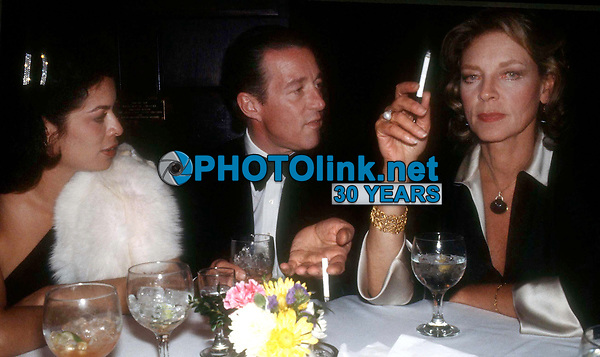 New York, NY<br /> 1978 FILE PHOTO<br /> Bianca Jagger Halston Lauren Bacall at Studio 54<br /> Photo by Adam Scull-PHOTOlink.net