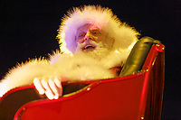 "Pictured: Father Christmas on one of the floats at the Christmas parade in Swansea, Wales, UK. Sunday 19 November 2018<br /> Re: Swansea Christmas parade attended by thousands has been branded a ""shambles"" for having just three floats.<br /> The annual festive event in south Wales, which took place on Sunday, promised ""dynamic dance-troupes"" as well as ""spectacular shows and stages"".<br /> But the parade was scaled down, leading to a barrage of criticism on social media because of roadworks in the city centre. <br /> The leader of Swansea Council, Rob Stewart apologised on Facebook and said the parade was not ""good enough"".<br /> Parents took on social media to voice their anger, calling the event ""a load of rubbish"" and claiming there was nothing for young children apart from ""a loud music float with Santa on""."
