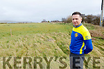 Owen O'Mahony of LB Rovers soccer club looking at the council field that he hopes LB Rovers can use for training near the Tinteáin Theatre in Ballybunion on Tuesday.
