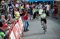 a happy stager winner Mikel Iturria (ESP/Euskadi Basque Country - Murias) at the stage finish > A Bask win in the Basque Country<br /> <br /> Stage 11: Saint-Palais to Urdax-Dantxarinea (180km in The Basque Country > FRA & ESP) <br /> La Vuelta 2019<br /> <br /> ©kramon