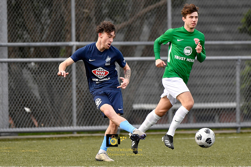 Noah Tipene-Clegg of the North Wellington FC during the Central League Football -  North Wellington FC v Wairarapa United at Alex Moore Park ( Alex Moore Artificial) / Johnsonville / New Zealand on Saturday 29 May 2021.<br /> Copyright photo: Masanori Udagawa /  www.photosport.nz