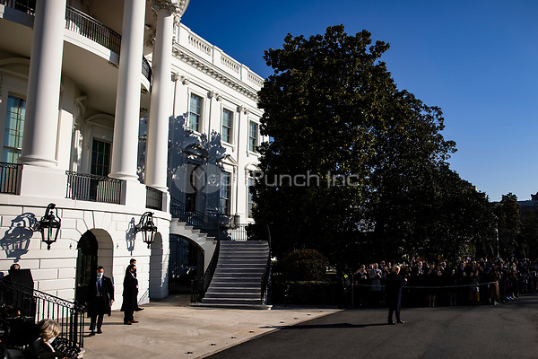United States President Donald J. Trump greets supporters as he departs the White House in Washington, D.C., U.S., on Tuesday, Jan. 12, 2021. The President is heading to Alamo, Texas today to visit the border wall between the United States and Mexico. This is the Presidents first appearance following the insurrection at the U.S. Capitol by his followers last week.<br /> Credit: Samuel Corum / Pool via CNP /MediaPunch