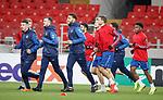 07.11.18 Rangers training at the Spartak Stadium, Moscow: Ryan Jack, Andy Halliday, Connor Goldson, Joe Worrall, Gareth McAuley, Dapo Mebude