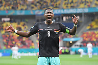 David ALABA AUT , jubilation,joy,enthusiasm,, action,single picture,cropped single motif,half figure,half figure group phase,preliminary round group C, match M06, Austria AUT North Macedonia MKD 3 1, on 13 06 2021 in Bucharest,National Arena Football EM 2020 from 11 06 2021 11 07 2021 <br /> Photo Frank Hoermann/SVEN SIMON/Imago/Insidefoto<br /> <br /> ITALY ONLY