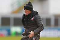 6th February 2021; Mattoli Woods Welford Road Stadium, Leicester, Midlands, England; Premiership Rugby, Leicester Tigers versus Worcester Warriors; Leicester Tigers Coach Mike Ford during the pre-match warm-up