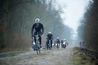 Paris-Roubaix 2013 RECON..Guillaume Van Keirsbulck (BEL) Trouée d'Arenberg reconnaissance..