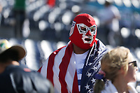DENVER, CO - JUNE 3: USA fan during a game between Honduras and USMNT at Empower Field at Mile High on June 3, 2021 in Denver, Colorado.