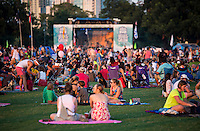Blues on the Green, Austin's free summertime concert series Zilker Park - Stock Photo Image Gallery