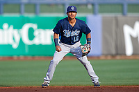 Corpus Christi Hooks shortstop Antonio Nunez (10) during a game against the Tulsa Drillers on June 3, 2017 at ONEOK Field in Tulsa, Oklahoma.  Corpus Christi defeated Tulsa 5-3.  (Mike Janes/Four Seam Images)