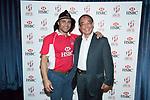 Guest pose for a photo during HSBC Hong Kong Rugby Sevens 2017 on 07 April 2017 in Hong Kong Stadium, Hong Kong, China. Photo by Chris Wong / Power Sport Images