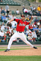 June 1st 2008:  Mariano Gomez of the Rochester Red Wings, Class-AAA affiliate of the Minnesota Twins, delivers a pitch during a game at Frontier Field in Rochester, NY.  Photo By Mike Janes/Four Seam Images