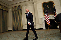 U.S. President Joe Biden departs after delivering remarks on the March jobs report at the White House in Washington on April 2, 2021. <br /> CAP/MPI/RS<br /> ©RS/MPI/Capital Pictures
