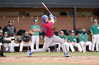 Kyle Merkle (32) of the Presbyterian College Blue Hose in a game against the University of South Carolina Upstate Spartans on Tuesday, March 23, 2021, at Cleveland S. Harley Park in Spartanburg, South Carolina. (Tom Priddy/Four Seam Images)
