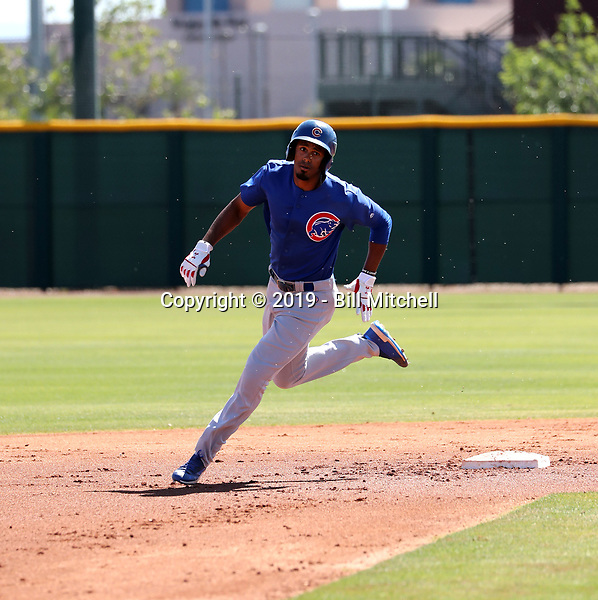 Brennen Davis - Chicago Cubs 2019 extended spring training (Bill Mitchell)