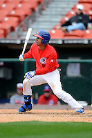Buffalo Bisons outfielder Anthony Gose #8 during the second game of a doubleheader against the Pawtucket Red Sox on April 25, 2013 at Coca-Cola Field in Buffalo, New York.  Buffalo defeated Pawtucket 4-0.  (Mike Janes/Four Seam Images)