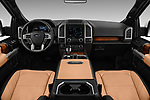 Stock photo of straight dashboard view of 2017 Ford F-150 Limited-SuperCrew 4 Door Pickup Dashboard