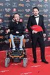 Pablo Echenique and Pablo Iglesias attends red carpet of Goya Cinema Awards 2018 at Madrid Marriott Auditorium in Madrid , Spain. February 03, 2018. (ALTERPHOTOS/Borja B.Hojas)