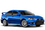 Front passenger side view of a 2011 Mitsubishi Lancer Evolution GSR