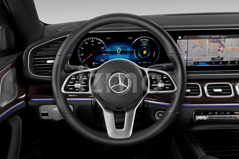 Car pictures of steering wheel view of a 2020 Mercedes Benz GLS GLS450 5 Door SUV Steering Wheel