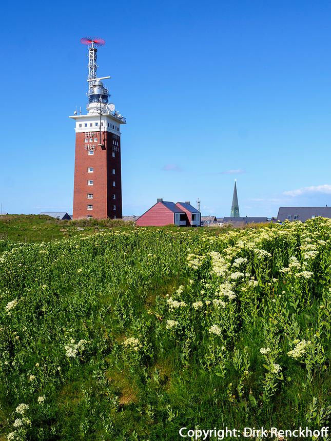 Leuchtturm auf dem Oberland, Insel Helgoland, Schleswig-Holstein, Deutschland, Europa<br /> lighthouse, Oberland,  Helgoland island, district Pinneberg, Schleswig-Holstein, Germany, Europe