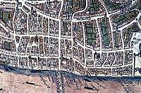 London: Circa 1550. Detail, City. Civitates Orbis Terrarum, 1572.   Reference only.