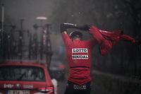 Tim Wellens (BEL/Lotto-Soudal) getting a rainjacket on<br /> <br /> Trofeo Lloseta - Andratx: 140km<br /> 27th Challenge Ciclista Mallorca