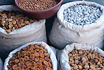 Dried fruit and nuts at the market in Dushanbe, Tajikistan.