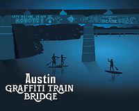 This fine art print celebrates Austin's famous and iconic graffiti train bridge.<br />
