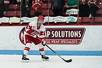 BOSTON, MA - JANUARY 11: Deziray De Sousa #8 of Boston University looks to pass during a game between Providence College and Boston University at Walter Brown Arena on January 11, 2020 in Boston, Massachusetts.