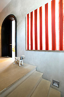 red striped painting