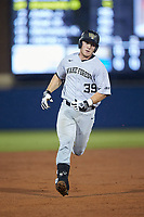 Ben Breazeale (39) of the Wake Forest Demon Deacons rounds the bases after hitting a home run against the Florida Gators in Game One of the Gainesville Super Regional of the 2017 College World Series at Alfred McKethan Stadium at Perry Field on June 10, 2017 in Gainesville, Florida. The Gators defeated the Demon Deacons 2-1 in 11 innings. (Brian Westerholt/Four Seam Images)