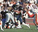 Los Angeles Raiders Bo Jackson (34) during a game from his career with the Raiders. Bo Jackson played for 4 years, all with the Raiders and was a 1-time Pro Bowler.(SportPics)