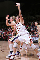 30 December 2007: Kayla Pedersen during Stanford's 77-42 win over the University of Washington at Maples Pavilion in Stanford, CA.
