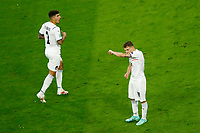 Nicolo Barella of Italy celebrates after scoring the goal of 0-1 during the Uefa Euro 2020 round of 8 football match between Belgium and Italy at football arena in Munich (Germany), July 2nd, 2021. Photo Matteo Ciambelli / Insidefoto