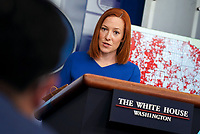 White House Press Secretary Jen Psaki speaks during a news conference in the James S. Brady Press Briefing Room at the White House in Washington, D.C. on Wednesday, April 7, 2021. <br /> Credit: Leigh Vogel / Pool via CNP /MediaPunch