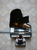 Playing the Piano at a Shopping Center, Rockwell Makati, Philippines