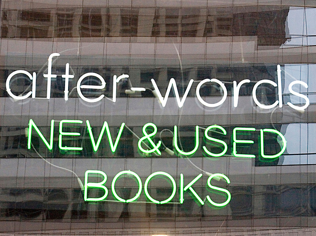 Shopping, After-Words Bookstore, Chicago, Illinois