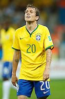 Bernard of Brazil looks dejected