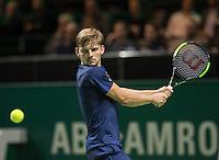 ABN AMRO World Tennis Tournament, Rotterdam, The Netherlands, 16 Februari, 2017, David Goffin (BEL)<br /> Photo: Henk Koster