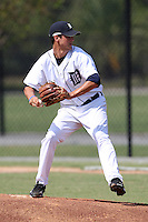 Detroit Tigers minor league pitcher Jeff Ferrell vs. the Philadelphia Phillies during an Instructional League game at Tiger Town in Lakeland, Florida;  October 12, 2010.  Photo By Mike Janes/Four Seam Images