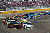 #88: Alex Bowman, Hendrick Motorsports, Chevrolet Camaro Valvoline and #78: Martin Truex Jr., Furniture Row Racing, Toyota Camry 5-hour ENERGY