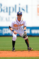 Montgomery Biscuits shortstop Shawn O'Malley #11 during a game against the Mobile BayBears on April 16, 2013 at Riverwalk Stadium in Montgomery, Alabama.  Montgomery defeated Mobile 9-3.  (Mike Janes/Four Seam Images)