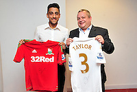 Swansea city fc sponsor awards... saturday 19th may 2013...<br /> <br /> <br /> <br /> Neil Taylor.