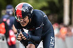 Richard Carapaz (ECU) Ineos Grenadiers in action during Stage 1 of La Vuelta d'Espana 2021, a 7.1km individual time trial around Burgos, Spain. 14th August 2021. <br /> Picture: Unipublic/Charly Lopez | Cyclefile<br /> <br /> All photos usage must carry mandatory copyright credit (© Cyclefile | Unipublic/Charly Lopez)