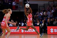 England's Ama Agbeze in action during the International Netball - NZ Silver Ferns v England Roses at Te Rauparaha Arena, Porirua, New Zealand on Thursday 7 September 2017.<br /> Photo by Masanori Udagawa. <br /> www.photowellington.photoshelter.com