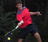 Hilversum, Netherlands, August 10, 2016, National Junior Championships, NJK, Jasper-Oliver van Kleef (NED)<br /> Photo: Tennisimages/Henk Koster